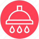 bath, bathroom, douche, drops, shower, wash, water icon
