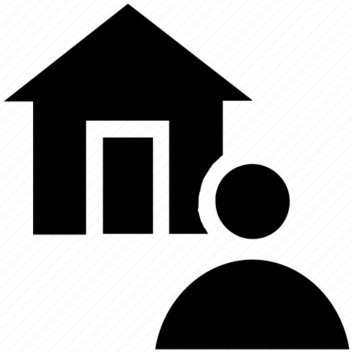 apartment, home, house, person, property, real estate, user icon