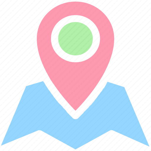 Map, map pin, maps, street, location, address, google map icon