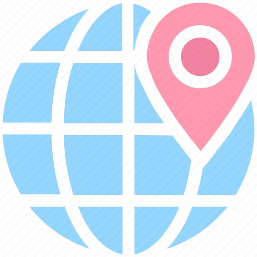 earth, global, globe, localization, map location, map pin, world location icon