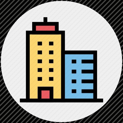 apartment, architect, architecture, building, office, real estate, skyscraper icon