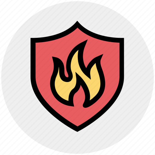 Antivirus, emergency, fire, fire protection, firewall, protection, shield icon - Download on Iconfinder
