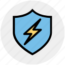 antivirus, firewall, protection, security, shield, thunder, virus icon