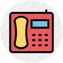 call, landline, office, old, phone, telephone, vintage icon
