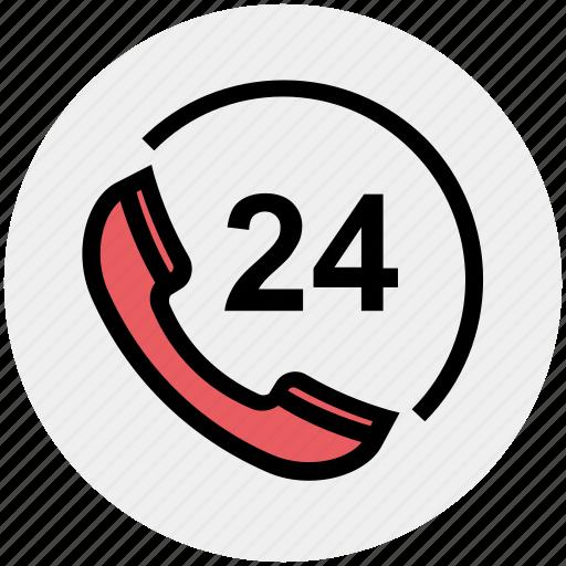 call, call service, customer service, helpline, phone, phone 24, service icon