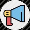 announcement, bullhorn, loudspeaker, mega phone, sound, speaker, yelling icon