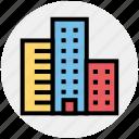 apartment, architect, architecture, building, company, real estate, skyscraper icon