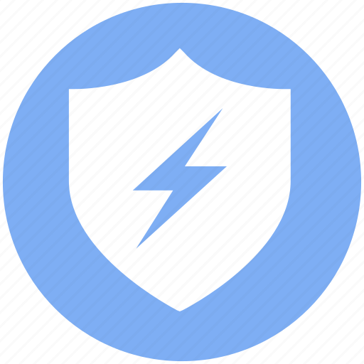 Antivirus, firewall, protection, security, shield, thunder, virus icon - Download on Iconfinder