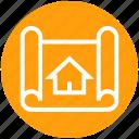 apartment, architecture, blueprint, house, house plan, plan, real estate
