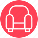 armchair, chair, coach, furniture, interior, sofa, vacation icon