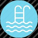 pool, staircase, swim, swimming, swimming pool, swimming staircase, waves