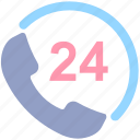 call, call service, customer service, helpline, phone, phone 24, service icon