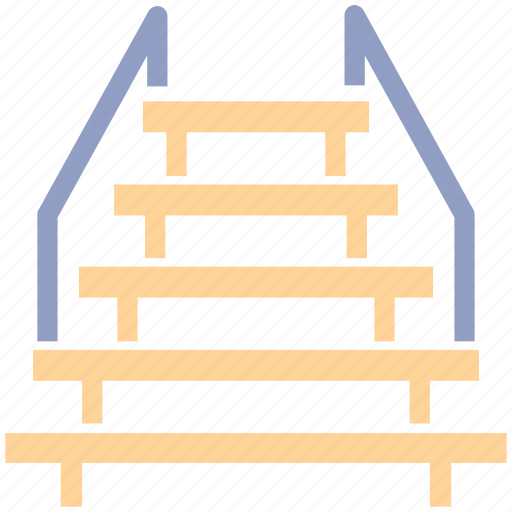 Descend, floor, interior, level, stage, staircase, stairs icon - Download on Iconfinder