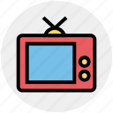 display, entertainment, screen, television, tv, tv set, watch icon