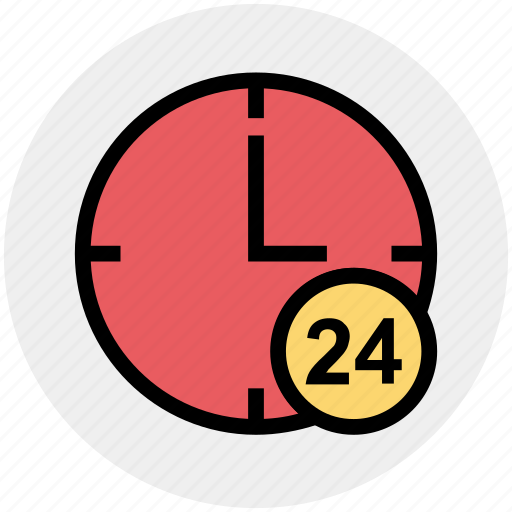 24 house, around the clock, clock, nonstop, real estate, time, watch icon