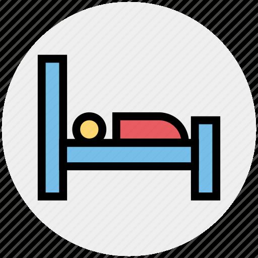 bed, bedroom, hotel, relax, single bed, sleep, sleeping icon