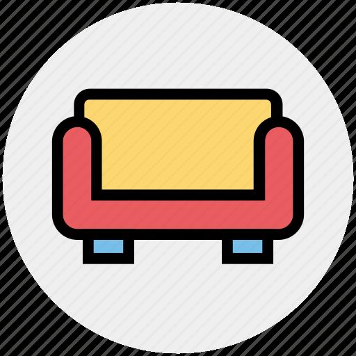 armchair, chair, coach, furniture, interior, sofa, vacation icon