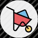 cart, construction, garden, gardening, real estate, spring, wheelbarrow icon
