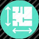 arrows, business presentation, easel, house, plan, presentation strategy