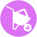 cart, construction, garden, gardening, real estate, spring, wheelbarrow icon
