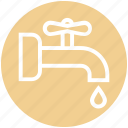 pipe, pipeline, plumbing, spigot, washing, water, water nal icon