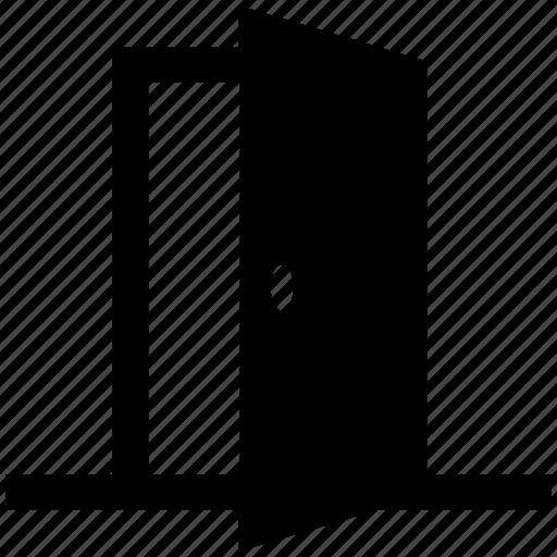 door, exit, house door, open, open door, opened, wooden door icon