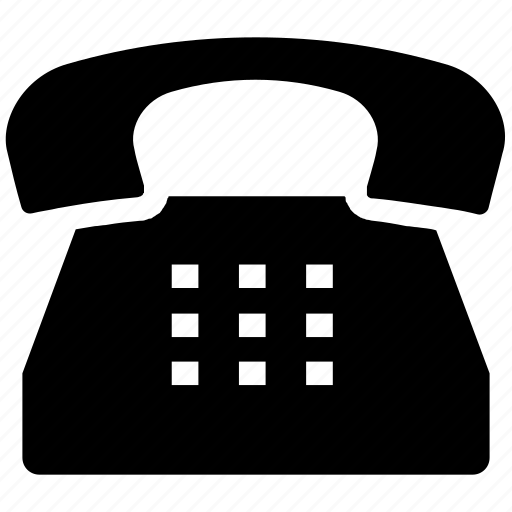 Old, business, office, telephone, phone, call, landline icon