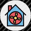 apartment, building, fan, house, property, ventilator cooler, ventilator fan