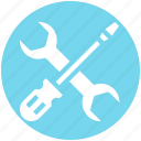 mechanic, preferences, repair, screwdriver, settings, tools, wrench icon