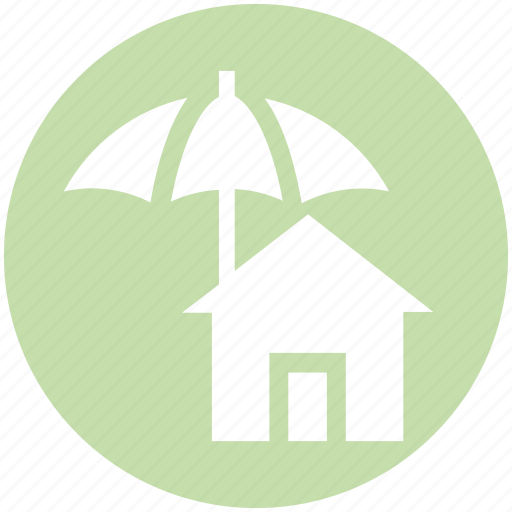 home, house, insurance, property, protection, real estate, umbrella icon