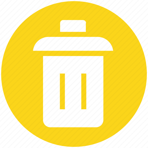 bin, dustbin, garbage, garbage can, recycle, trash, trash can icon