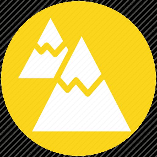 environment, height, landscape, mountain, mountains, nature, snow icon