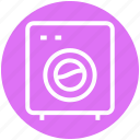 appliance, cleaning, laundry, laundry machine, washer, washing, washing machine icon