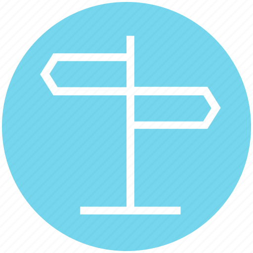 direction, direction sign, navigation, road sign, street sign, two, way sign icon