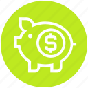 cash bank, dollar, dollar coin, money, piggy, piggy bank, saving