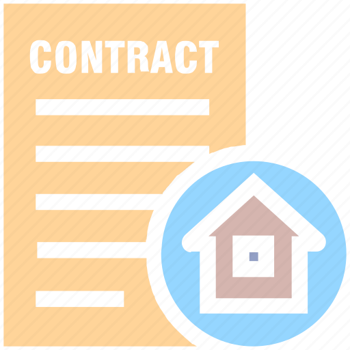 contract, document, home, house, house paper, property paper, real estate icon