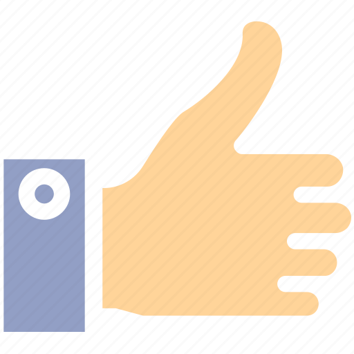 accept, approval, hand, like, social, thumbs up, vote icon