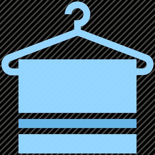 bath, bath towel, clothes hanger, hanger, hanging towel, towel, towel on hanger icon