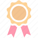 award, award ribbon, badge, first place, reward, ribbon, win icon