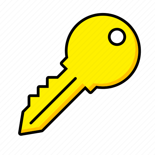 estate, home, house, key, password, real, security icon