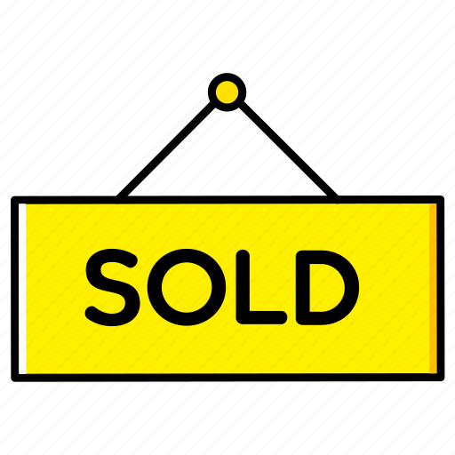 board, estate, home, house, real, sign, sold icon