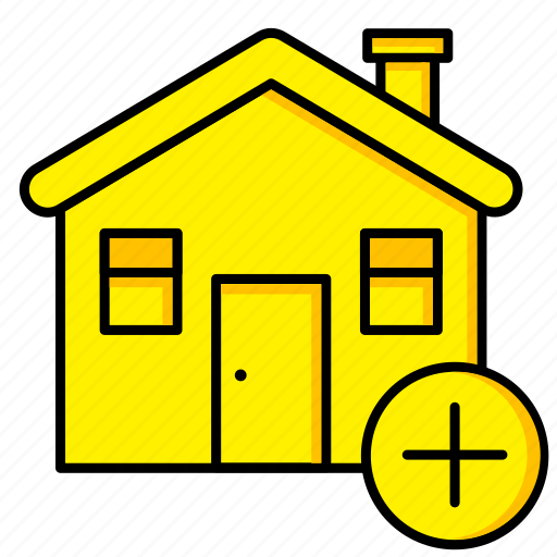 add, estate, home, house, real, rent, sale icon