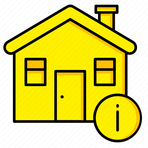 estate, home, house, info, real, rent, sale icon