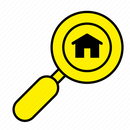 estate, home, house, real, rent, sale, search icon
