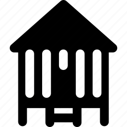 architecture, bungallow, cabin, real, rent, shack icon