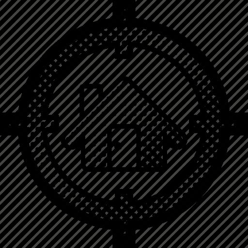 Home, house, hunt, property, seek, target icon - Download on Iconfinder