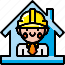 builder, construction, industrial, industry, occupation, professional, worker icon