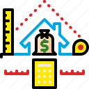 appraisal, assessment, cost, measure, measurement, property, scale icon