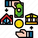 banking, credit, finance, home, loan, money, payment icon