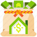 bank, homeloan, loan, mortgage, realestate, residential icon